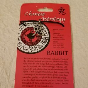 NWT Chinese Astrology Rabbit Necklace
